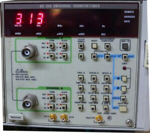 Tektronix Plug In Tm Series Dc510 Frequency Counter Timer Tested Defective