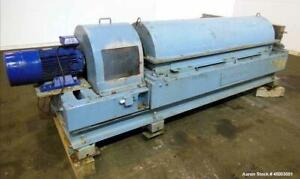 Used Sharples Pm 3600 Super d canter Centrifuge 316 Stainless Steel Constructi