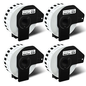 4pk Dk2210 White Paper Label For Brother Dk 2210 Ql 570 Continuous Tape W frame