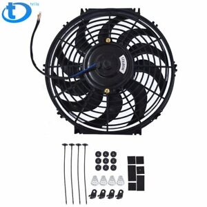 14 Universal Pull Push Slim Cooling Fan Electric Engine Radiator For Ford F350