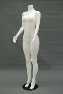 Adult Standing Headless Female Brazilian Plastic White Mannequin With Base