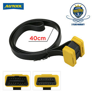 Obd2 Obd Ii Cable 16pin 40cm Extension Cable Male To Female Connector Adaptor
