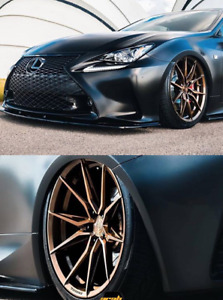 20 Rohana Rfx13 Brushed Bronze Wheels For Lexus Is F Rc200 Rc350 Lc Rc F