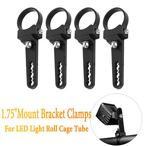 4pcs 2 Inch Led Light Bar Mount Bracket Light Clamps For Roof Roll Cage Offroad