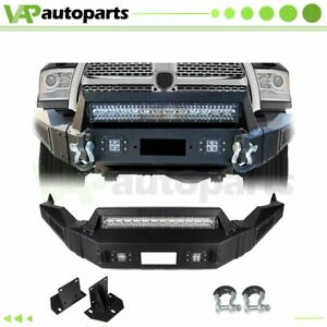 Usa New Complete Steel Front Bumper Assembly For Dodge Ram 1500 2013 2018