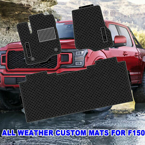 Custom Car Floor Mats For Ford F150 Supercrew 2014 2020 Black All Weather