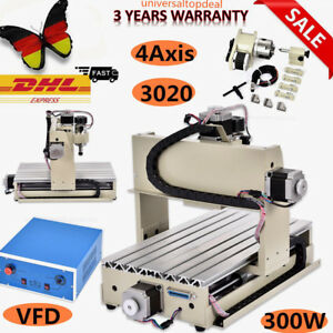 Parallel 300w 4 Axis 3020 Cnc Router Engraving Drilling Milling Machine 220v De