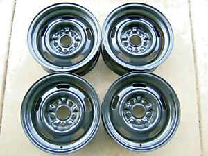 Gm Rally Wheels 15x7 Code Fw Chevy Chevelle Camaro Nova set Of 4
