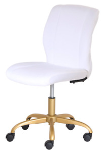 New White Office Chair Swivel Rolling Computer Desk Seat Adjustable Hight Rolls