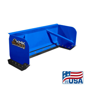 8 Blue Skid Steer Snow Pusher Box bobcat kubota quick Attach free Shipping