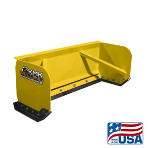 8 Yellow Skid Steer Snow Pusher Box bobcat kubota quick Attach free Shipping