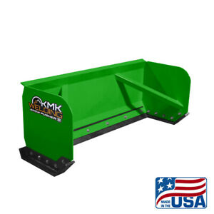 8 Green Skid Steer Snow Pusher Box bobcat kubota quick Attach free Shipping
