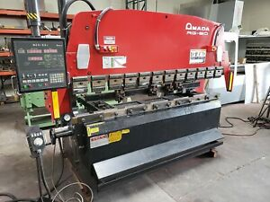 Amada Rg 80 Cnc Hydraulic 80 ton X 8 Press Brake Nc9 exii 1997 Light Curtain