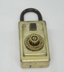 Vintage Supra C Series 3 Dial Combination Key Lock Box Cosmetic Wear Works
