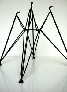 Black Eiffel Tower Chair Base For Vintage Herman Miller Eames Shell Dsr Dar