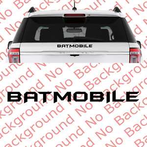 Batmobile Vinyl Die Cut Decal For Batman Theme Car Windshield Back Window Cm019