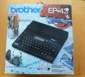 Brother Ep43 Portable Personal Typewriter Word Processor W Box Manual Tested