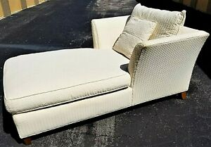 Wonderful Lexington Home Oversized Beige Ivory Chaise Lounge