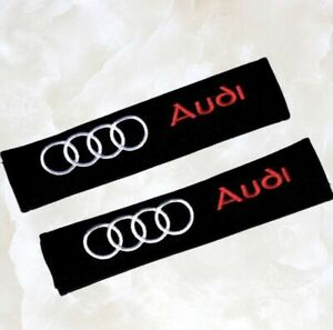 Audi Cotton Seat Belt Cover Pads 2 Pack Us Ship