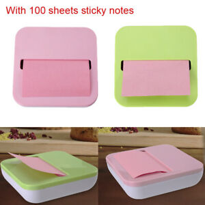 Notes Sticky Holder Pop up Dispenser Fit For 3x3inch Notes W 100sheets Sticker