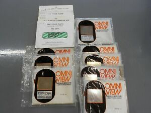 Omni View Gold Welding Filter Lens 4 1 2 X 5 1 4 Lot Of 8 6 Cover Plates