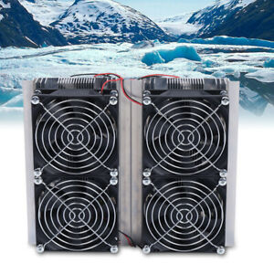 240w 12v Thermoelectric Peltier Refrigeration Cooling System Kit Cooler W 4 Fan
