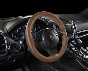 Car Steering Wheel Cover Brown Leather Diy For Cayman W Needles Thread 15
