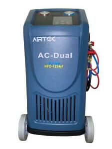 Airtek New Fully Automatic R134a 1234yf Recovery Recharge Dual Machine hybrid