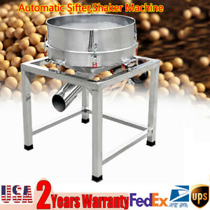 Automatic Vibration Sifter Shaker Machine 110v Grid Design Stainless Steel 19 6
