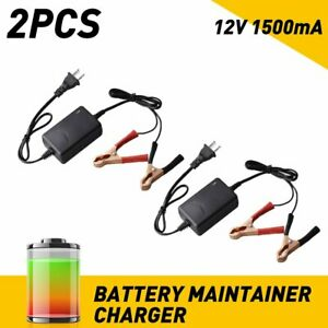 2x Motorcycle 12v Smart Charging Battery Charger Maintainer Trickle Rv Car Truck