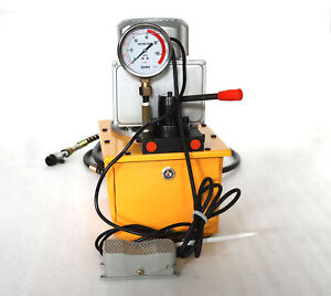 1 8gal Hydraulic Pump High Pressure Oil Pump Two circuit Hand Valve 10000psi