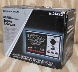 Sears Craftsman Solid State Electronic Engine Analyzer 28 21423 W Box Leads