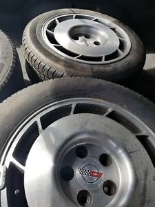 Corvette Wheels Tires 16 X 8 5 Set Of 4 1986 Turbine Style 84 87 Local Pickup
