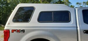 Leer 122 Mid Rise Camper Shell Topper Silver Ford Super Duty Standard Bed