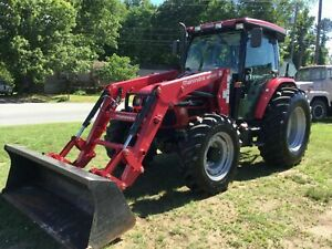 Very Nice 2016 Mahindra Mpower 85p 4x4 Cab Loader Tractor With Only 412 Hours