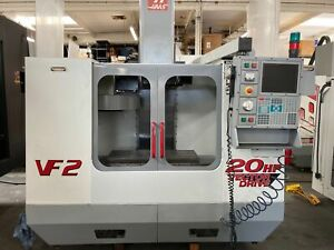 Haas Vf 2 Vmc 2000 Prog Cool Nozzle Rjh 20 hp Vector Drive Chip Auger