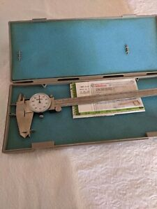 Mitutoyo Dial Caliper 8 Gauge 505 644 50 used Mint Condition