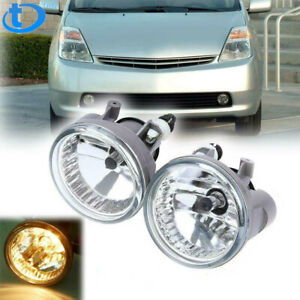 Bumper Driving Fog Lights Clear For 04 05 06 07 Toyota Highlander Echo Prius New
