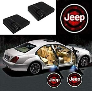 2 Pcs Wireless Led Car Door Logo Projector Courtesy Ghost Puddle Light Fits Jeep