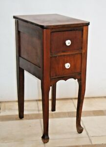 Antique Side Table Two Deep Drawer Accent End Lamp Phone Stand Chippendale