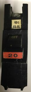 2 Federal Pacific Stab Lok Fat Single Pole 20 Amp Breakers Na120 Qty 2