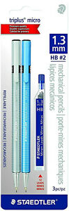 Staedtler Triplus Micro Mechanical Pencil 3 Piece Set 1 3 Mm Hb Black New