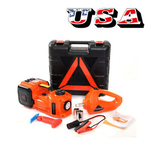 12v 5ton Car Electric Hydraulic Floor Jack With Impact Wrench Car Jack Lift 45cm