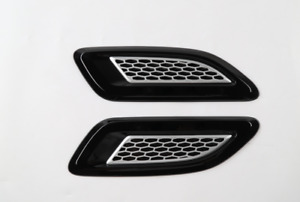 For 2010 2020 Dodge Ram Abs Front Hood Engine Intake Air Vent Outlet Trim 2pcs