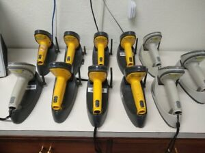 Symbol Barcode Scanner lot Of 11 Scanners 10 Power Supplies And 9 Usb Cables