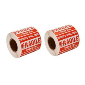 Sjpack 1000 Fragile Stickers 2 Rolls 2 X 3 Fragile Handle With Care