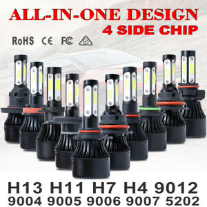 4side Led Headlight Kit H4 H7 H11 H8 H13 9008 9004 9005 9145 9006 9007 9012 5202