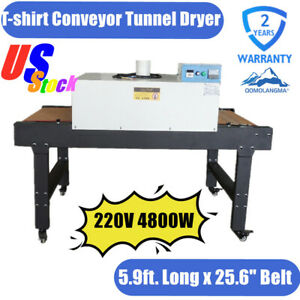 Qomolangma T shirt Conveyor Tunnel Dryer 25 6x39 Belt 220v Screenprinting Dryer