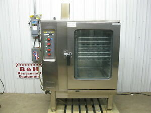 Lang Natural Gas Steamer Convection Combi Oven W Stainless Steel Stand Lcg 241m