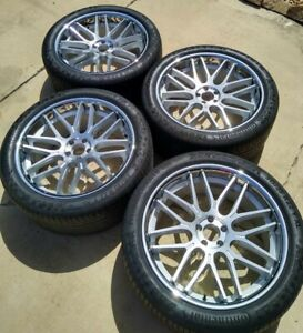 Blaque Diamond Silver 22 Inch Rims With Continental Tires